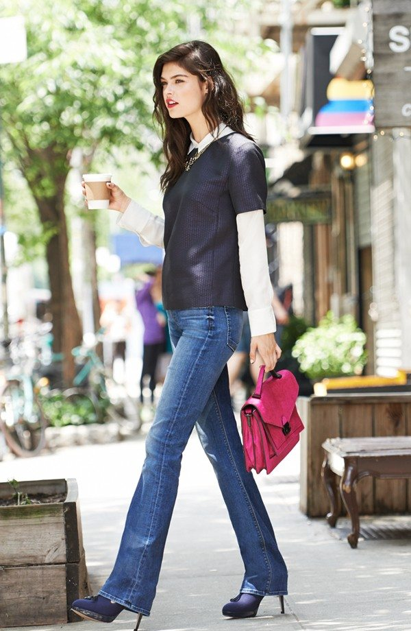 How to Wear: Boot Cut Jeans (Nordstrom Jean Lookbook) | Hallie Daily