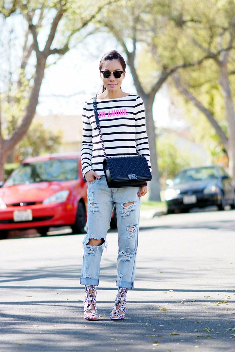 HallieDaily | Weekend Stripe, Kate Spade Striped Tee, One Teaspoon ...