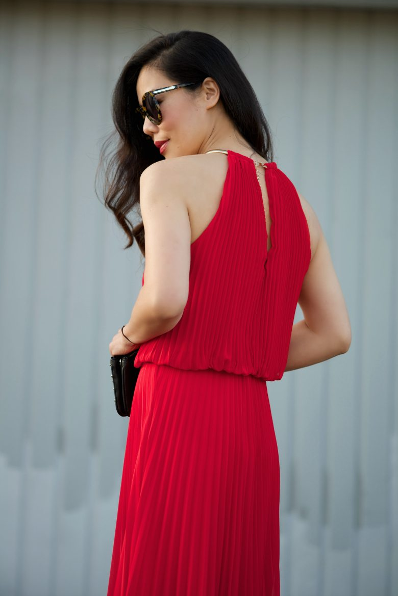 HallieDaily REd Maxi Dress 12