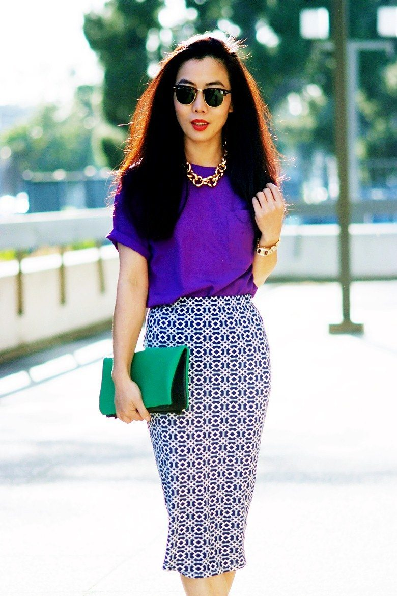 What To Wear With A Purple Skirt 108
