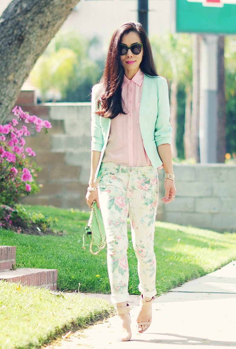Peplum Jacket and Floral Jeans_1