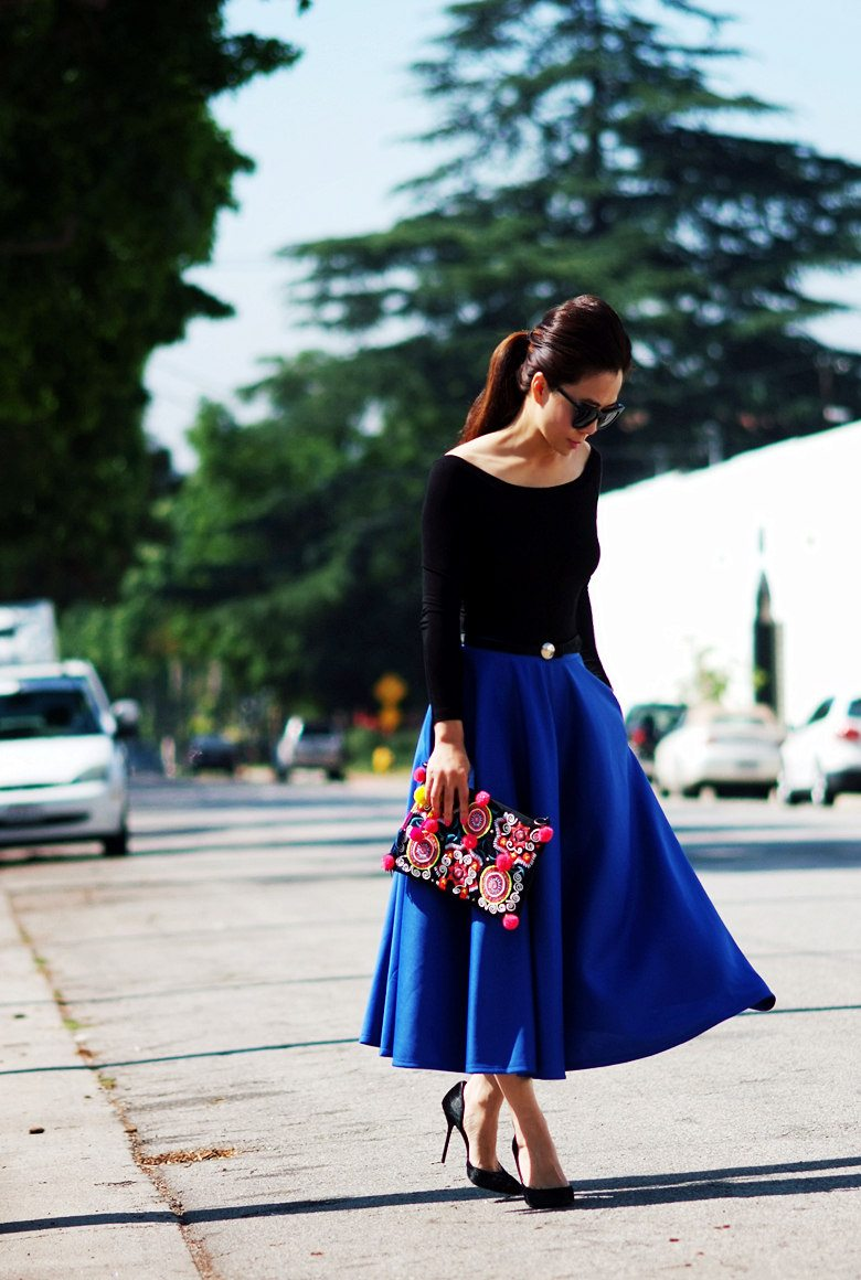 HallieDaily Full Blue Skirt_2