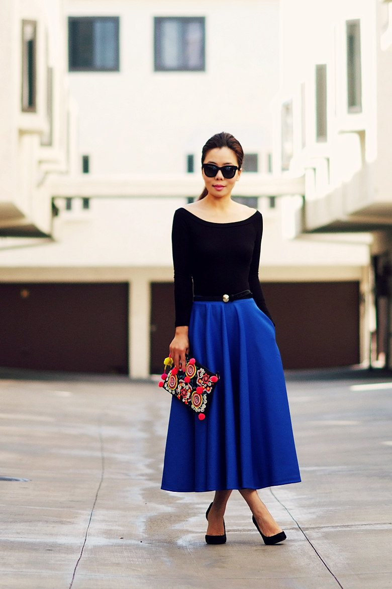 HallieDaily Full Blue Skirt_9