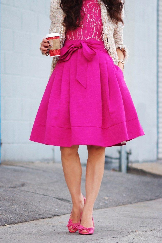HallieDaily Eliza J Pink Bow Dress Celine Sandals Karen Walker ...