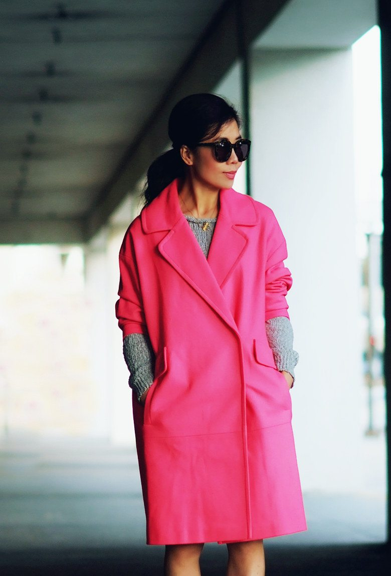 HallieDaily Pink Coat and Nude Pumps_1