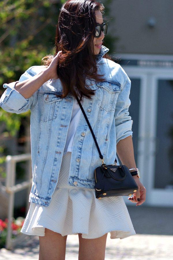 prada yellow purse - HallieDaily, Street Style, Spring Style, Weekend Style, Oversized ...