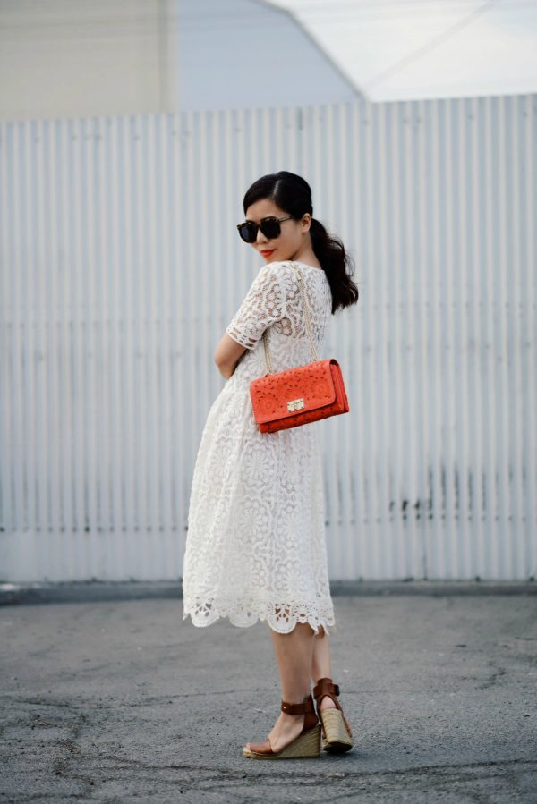 309703af7da7 HallieDaily-Valentino Love-Lace Dress-and Wedges Sandals