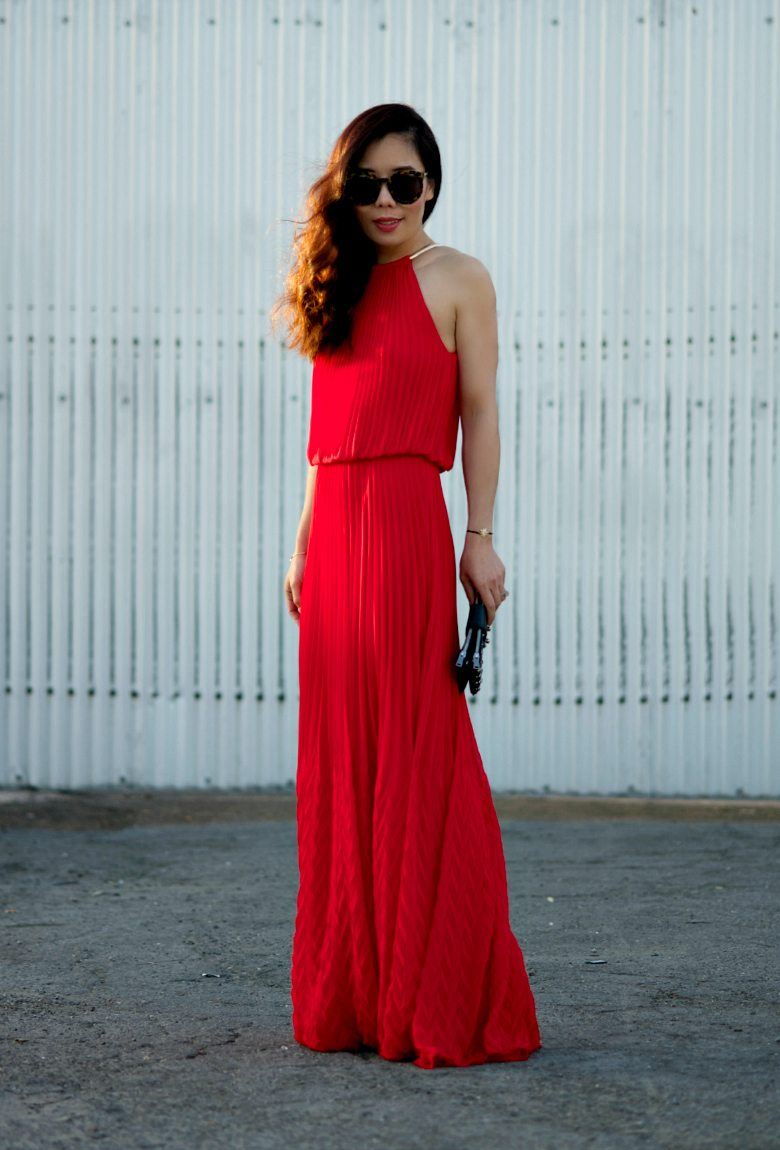 Hot Summer: Red Maxi Dress