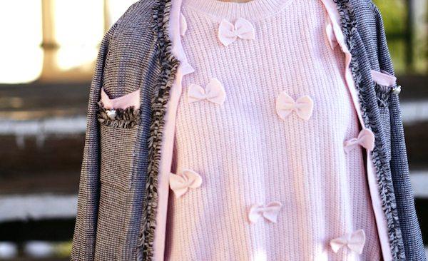 HallieDaily-In-Pink-Tweed-Jacket-Pink-Flats 4