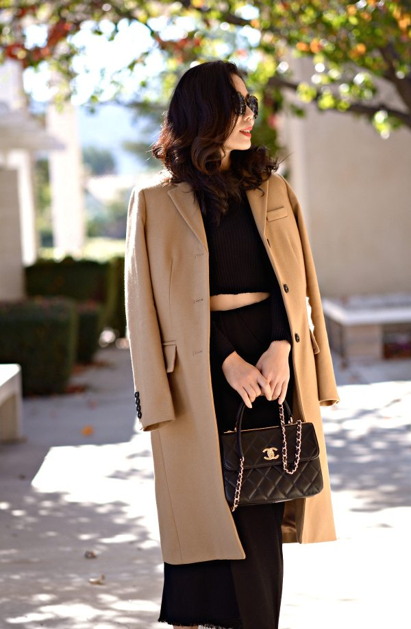 HallieDaily-Marc by Marc Jacobs Camel Coat-Lanvin Skirt-Chanel Bag 1