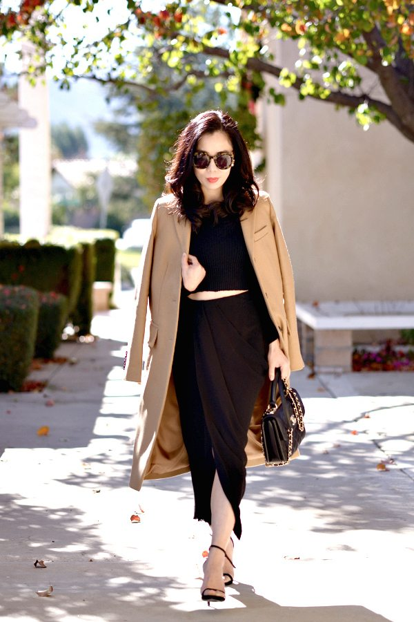 HallieDaily-Marc by Marc Jacobs Camel Coat-Lanvin Skirt-Chanel Bag 3