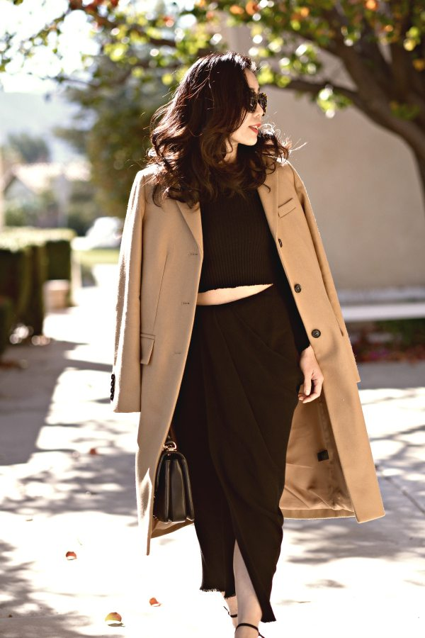 HallieDaily-Marc by Marc Jacobs Camel Coat-Lanvin Skirt-Chanel Bag 4