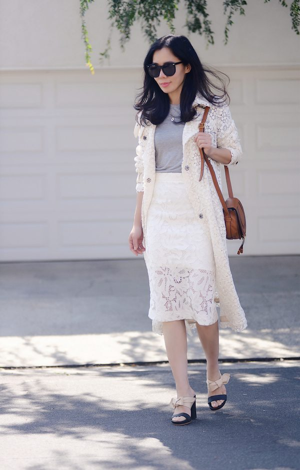 Lace Trench And Chloe Bag Hallie Daily