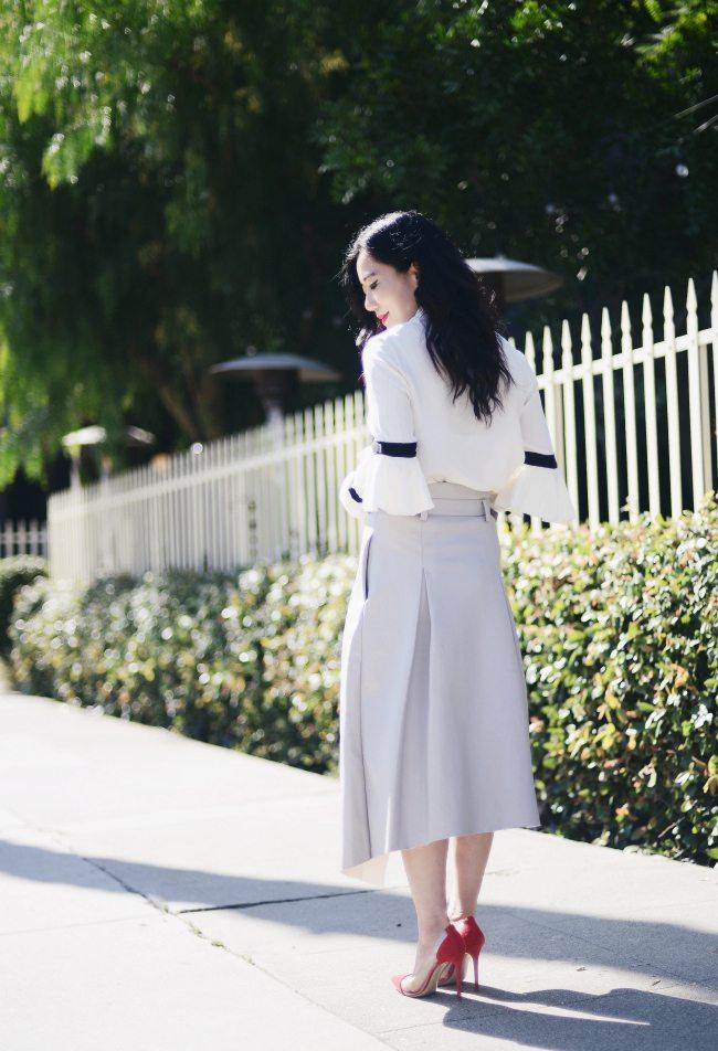 A Long Wrap Skirt Hallie Daily