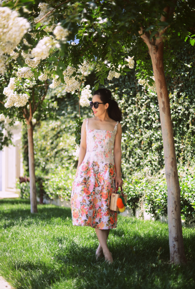 Halliedaily What To Wear Summer Wedding Guest Dress Floral Dress