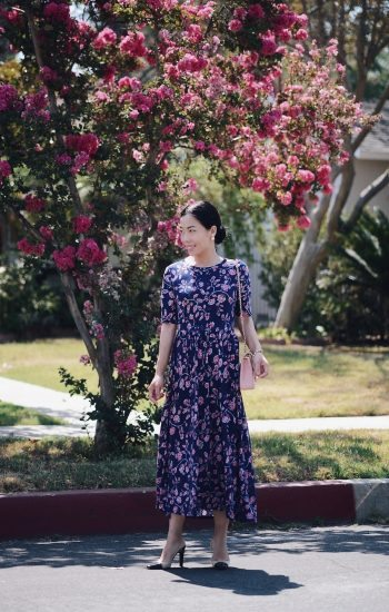 Summer Style, Floral Dress, Flowers, Pink Chanel Bag, Via: HallieDaily