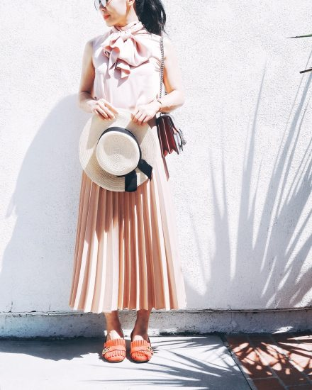 Pretty, Pleated Weekend, via: HallieDaily