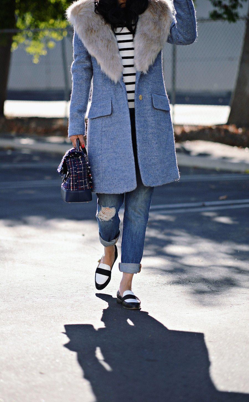 de5c936db26 ... Faux Fur Collar Coat