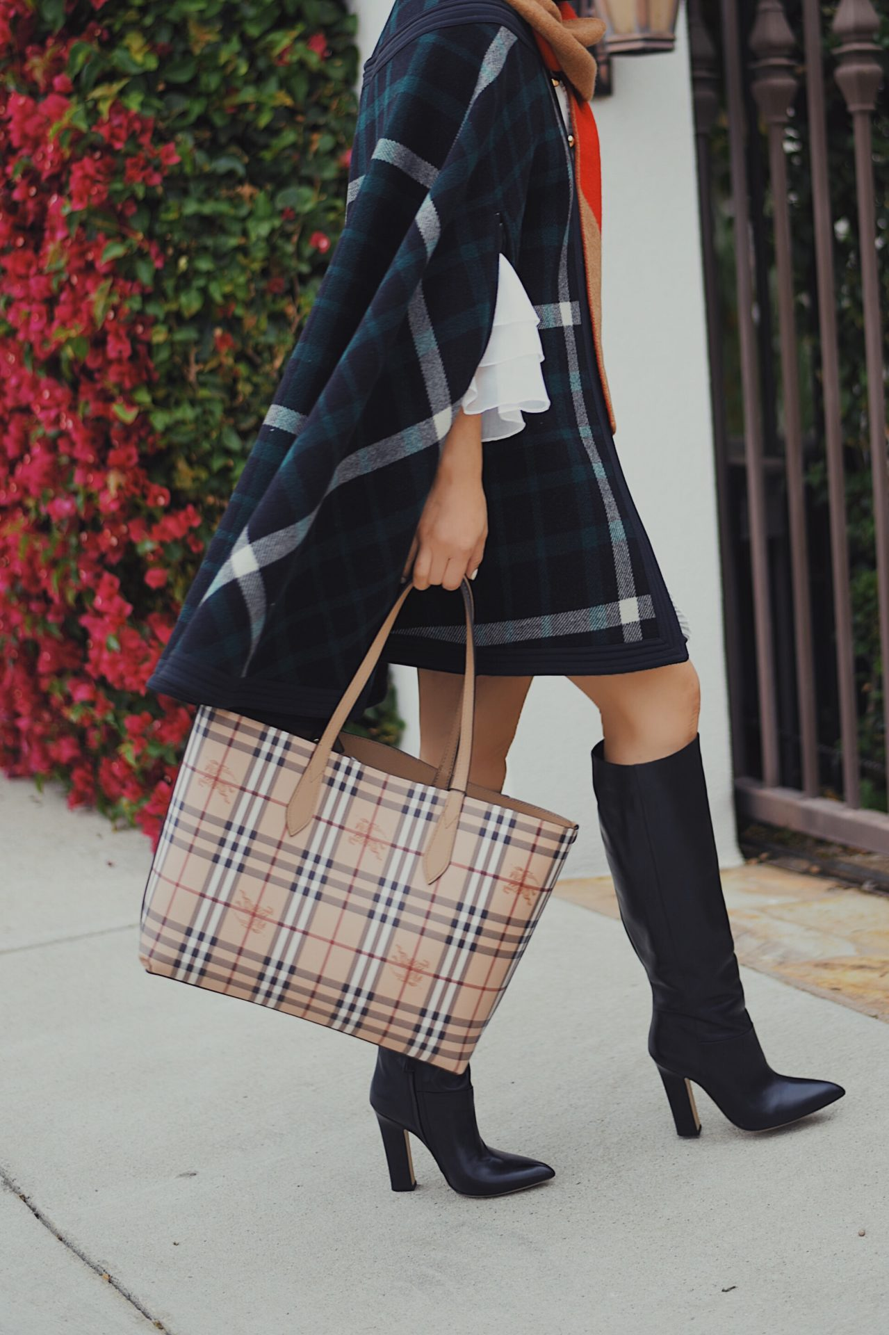 4d4cfe16887 Check the Check    Burberry Checked Cape   2 Sides Tote – Hallie Daily